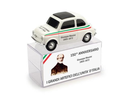 Fiat 500 Giuseppe Mazzini 150° Unita/' D/'Italia 1:43 2011 Model BRUMM