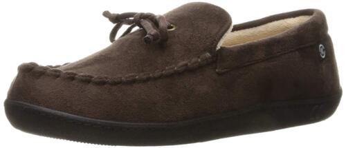 Isotoner Men/'s Microsuede Moccasin Memory Foam Slippers Shoes for Indoor//Outdoor