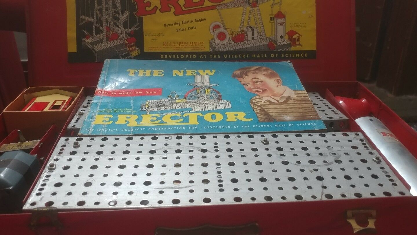 1938 gilbert erector set Used with all pieces