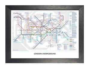Map Of England Underground.Details About London Underground England The Tube Poster Map Photo United Kingdom Railway