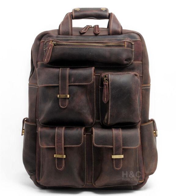 83a1fddc34 Men Genuine Leather Backpack 17