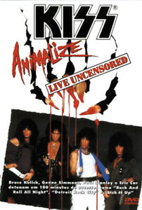 KISS VIDEO -DVD - ANIMALIZE LIVE UNCENSORED - ZONE 1 - BRAZIL 2001 - V622110