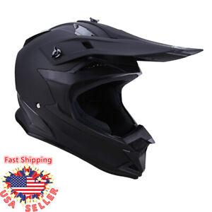 DOT Helmet Dirt Bike ATV Motocross Motorcycle Snowmobile Off Road Ride Black USA