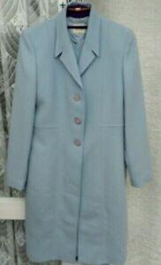(ref 1135) Viyella-taille 10-bleu à Manches Courtes Robe & Veste Costume Mariage-afficher Le Titre D'origine