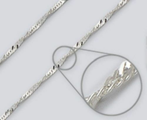 Wave Chain - Sterling Silver Made In Italy Necklace, Anklet, Bracelet YG
