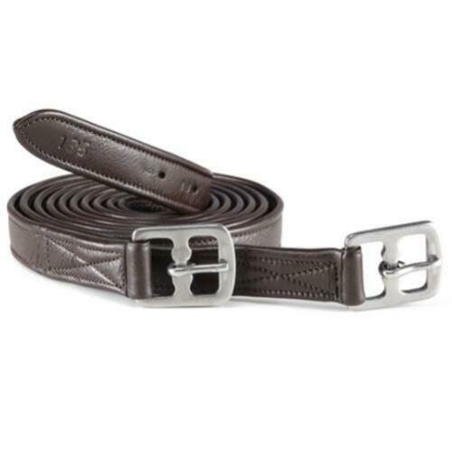 """Leather Stirrup Leathers Adults or Childs 52/"""" to 74/"""" Black or Brown"""