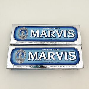 2 Pack MARVIS Aquatic Mint Toothpaste 3.8 oz each NEW with Box
