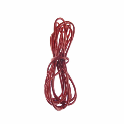 Multi-colors Plain Soft Genuine Leather Cord Thread Round 2mm Thong Cord DIY