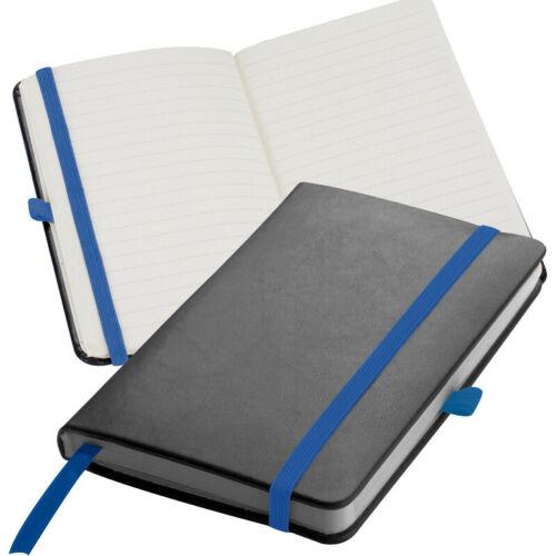 160 Seiten Farbe DIN A6 schwarz mit blauen Lesebändchen Notizbuch
