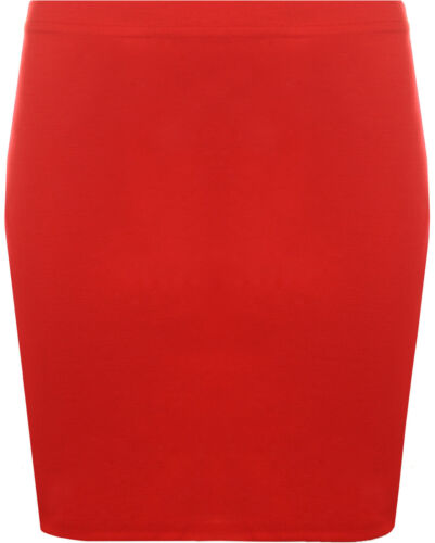 Womens Ladies Plain Stretch Mini Bodycon Skirt Pencil Micro Ponte Short 8-14