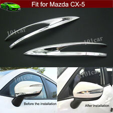 2pcs ABS Chrome Rearview Side Mirror Cover Trim For Mazda CX-5 2014 15 2016 2017