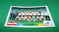 N°138 EQUIPE AUTRICHE ÖSTERREICH PANINI FOOTBALL FRANCE 98 1998 COUPE MONDE WM
