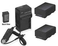 2 Batteries + Charger For Samsung Hmx-h200ln Hmx-h203 Hmxh200ln Hmx-h203bn/xaa
