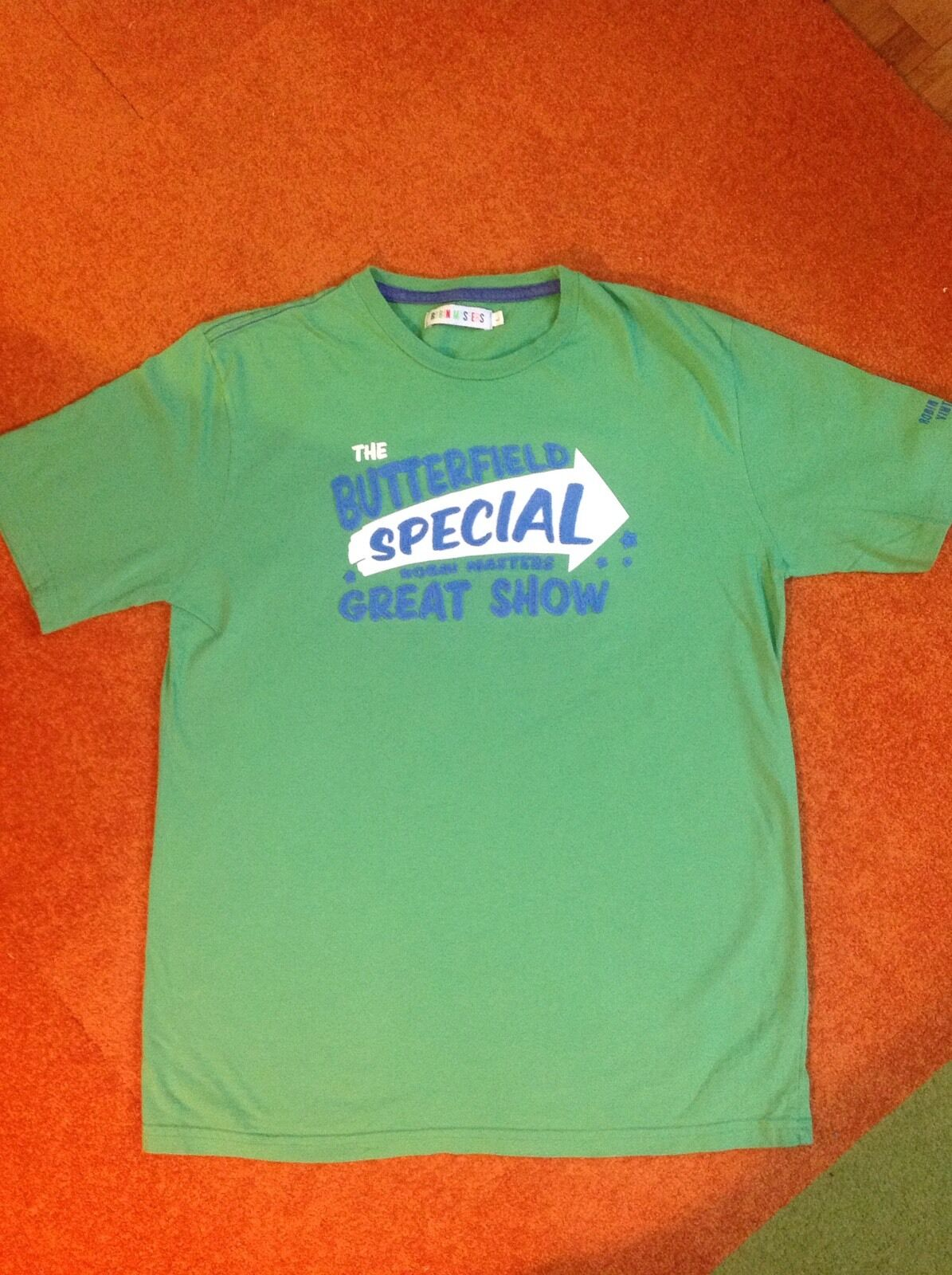 ROBIN MASTERS CO. - EMBROIDERED  T SHIRT -  THE BUTTERFIELD SPECIAL   GREEN SZ L