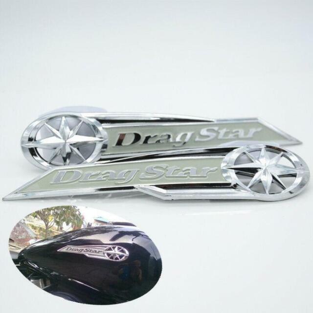 MOTO GAZ Tank emblem badge Decals Pour Yamaha Drag Star
