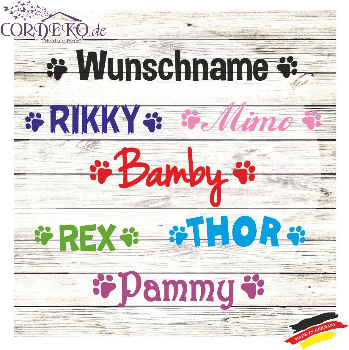 Details Zu Pfoten Wunschname Wandtattoo Hund Katze Tatzen Aufkleber Paw Dog Sticker