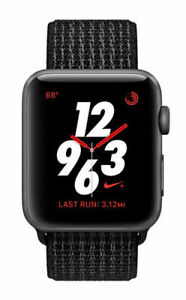official photos a4a3b 499dd Image is loading Excellent-Series-3-Apple-Watch-Nike-38MM-Black-
