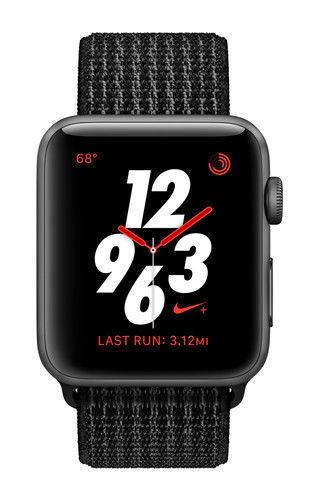 borde En Vivo Instruir  Apple Watch Nike+ 38mm Space Gray Aluminium Case with Black/Pure Platinum  Nike Sport Loop (GPS + Cellular) - (MQL82LL/A) for sale online | eBay