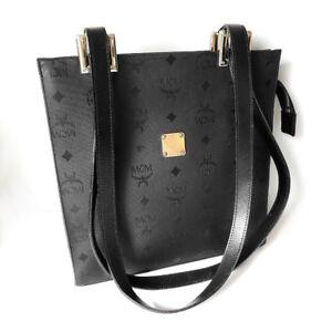 Details zu Original MCM München Damen Handtasche schwarz