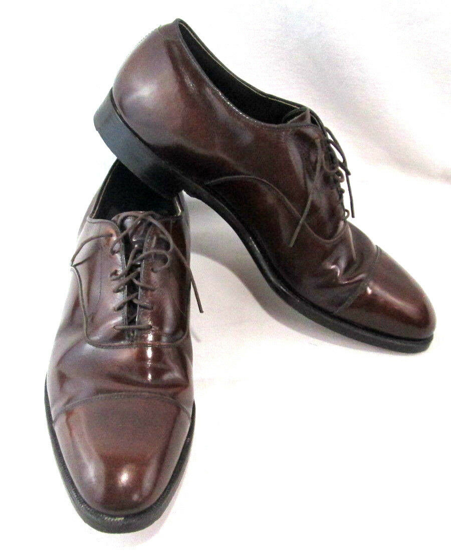 Crown Aristocraft Johnston & Murphy Uomo Shoes Pelle Brown Pelle Shoes Lace Up Size 11 C 9a1517