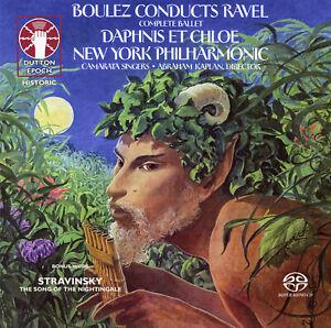 BOULEZ RAVEL Daphnis et Chloe & STRAVINSKY Song of the Nightingale SACD Hybrid