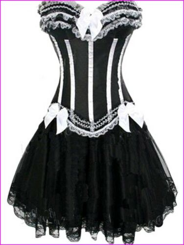 Skirt UK All Size Burlesque Hen Party Corset Dress Moulin Rouge Bustier Corset