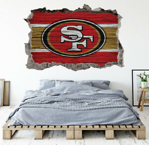 Details About San Francisco 49ers Wall Art Decal Smashed Kids Bedroom Decor Wl150