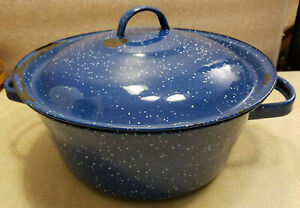 Vintage-Dark-Blue-and-White-Graniteware-Enamelware-Medium-Soup-Pot-And-Lid-10-034