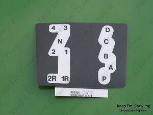 s l300 john deere r62956 quad range gear shift pattern decal 4230 4430 4630