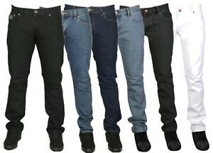 Mens-Branded-Tight-Slim-Fit-Jeans-Pants-Jean-Blue-Black-White-Size-28-40-9-99