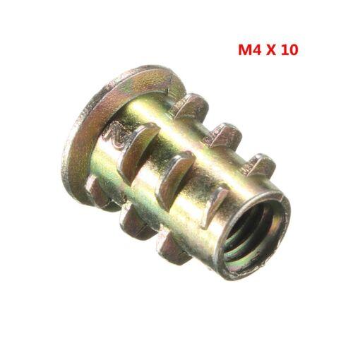 20x M4 M5 M6 M8 M10 Gewinde Typ Einpressmutter Verbindungsmuffe Einschraubmutter