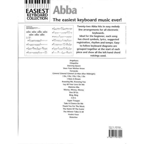 ABBA Easiest Keyboard Collection Noten für Keyboard