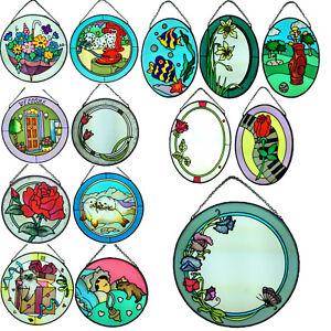 STAINED-GLASS-Suncatchers-Window-Decoration-Light-Catcher-ART-DECO-Style