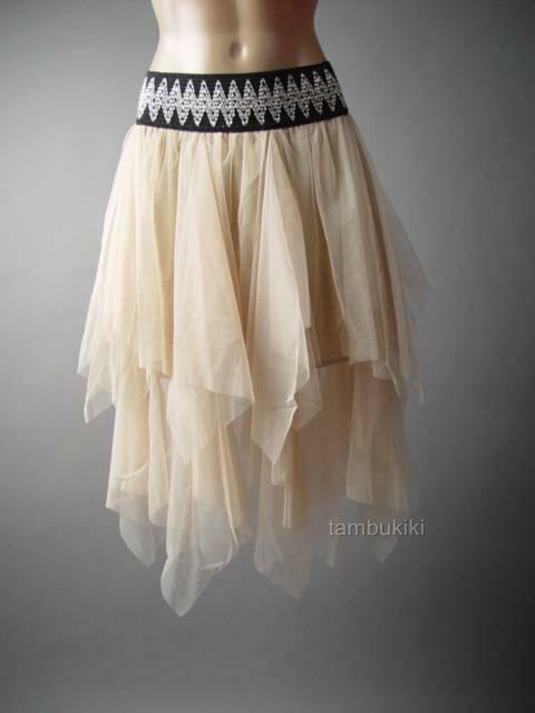 Ivory Tulle Fairy Nymph Ballerina Handkerchief Tutu Full 236 mv Skirt S M L XL
