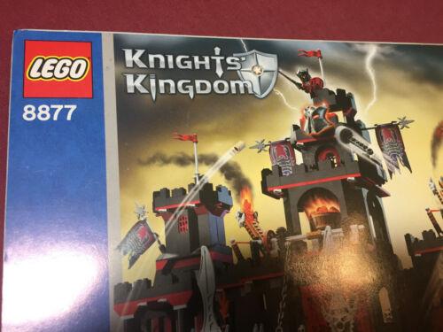 LEGO 8877 Knights Kingdom Vladek/'s Dark Fortress Instruction Manual No Bricks