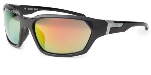 Stone by BLOC Sunglasses THUNDERBIRD Black with Sunburst Mirror Lens 57501