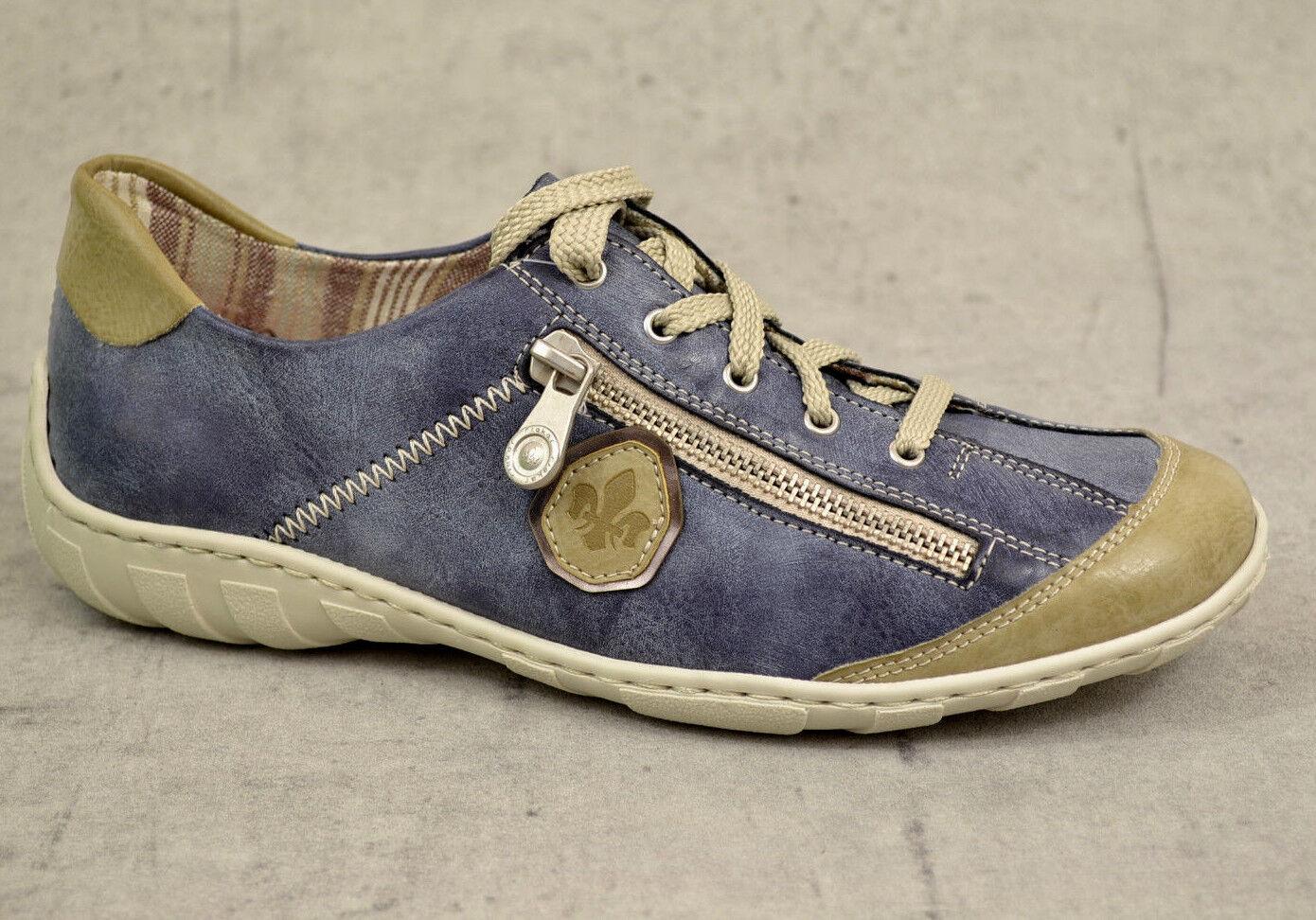 NUOVO Mocassini Rieker Donna Estate Scarpe Mocassini NUOVO Sneaker Blu 37,38,39,40,41,42 251838