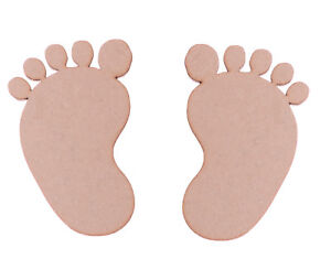 Wooden-MDF-Baby-Feet-Shapes-Pairs-Foot-Shapes-Christening-Baby-Footprints-5-Pair