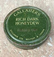1950's VINTAGE GALLAHER'S RICH DARK HONEYDEW FLAKE TOBACCO TIN, UNITED KINGDOM