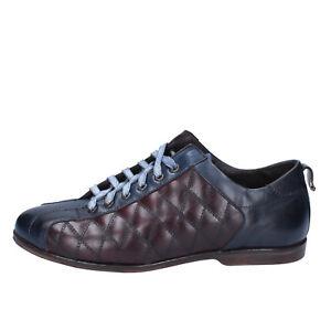 Herrenschuhe ZuverläSsig Herren Schuhe Evc 42 Elegante Burgund Blau Leder Bx611-42 Lange Lebensdauer
