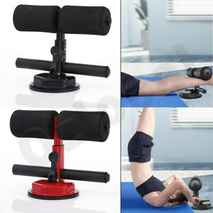 Sit-Up-Bar-Suction-Floor-Exercise-Stand-Padded-Ankle-Support-Home-Gym-Fitness