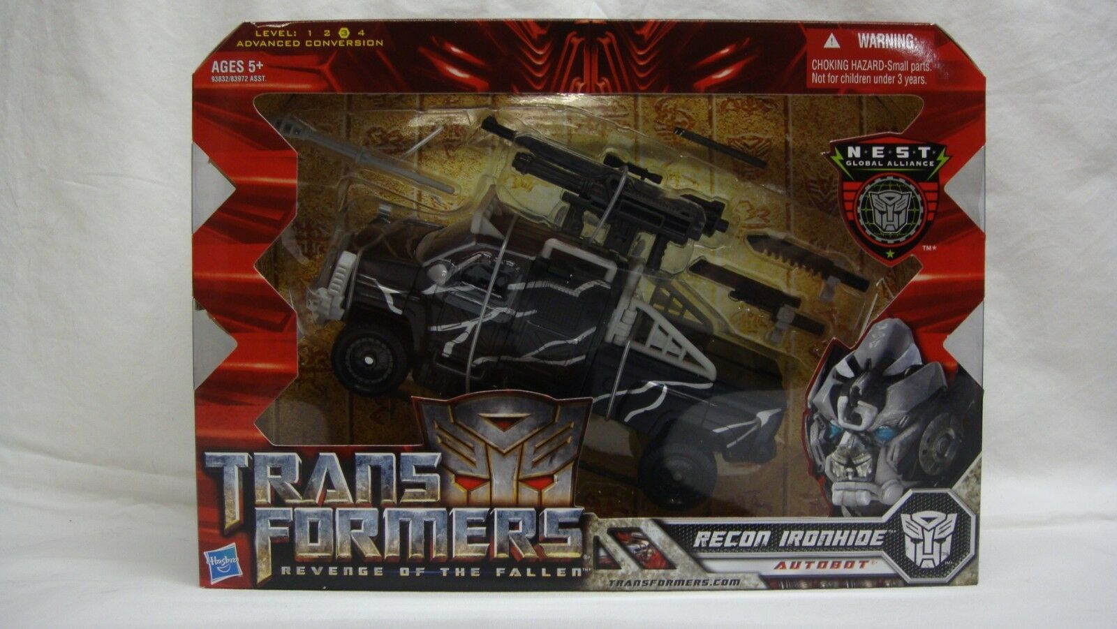Transformers rougeF Revenge of the Fallen nid Recon Ironhide Voyager neuf scellé