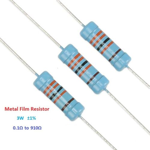 Metal Film Resistor 3W Power TOL ±1/% 0.1 Ohm to 910 Ohm