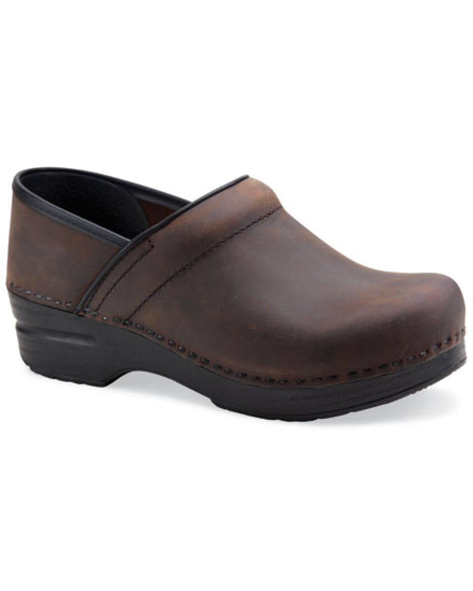 Women's Dansko Professional Clogs Brown Leather Antique Leather Brown 0716da