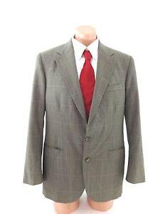 Wool Brown Herringbone Suit Jacket Vintage Style Mens Slim Fit Tweed