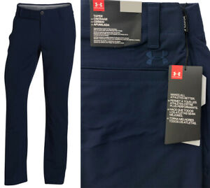Under-Armour-UA-Matchplay-Tapered-Golf-Trousers-RRP-65-ALL-SIZES-Navy