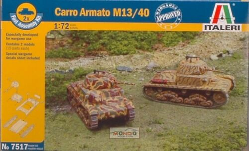 CARRO ARMATO M 13//40 KIT 1:72 Italeri IT7517