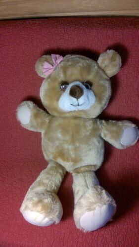 "Vintage 18"" Bijou Enterprises TEDDY BEAR w/ SLEEP EYES brown plush stuffed toy"