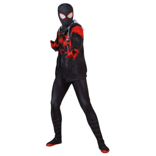 Spider-Man Into the Spider-Verse Miles Morales Cosplay Kids Hoodie Pullover