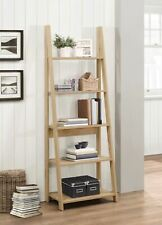 679c281187bb Birlea Dayton Scandinavian Retro Ladder Bookcase Shelving Shelf Unit Oak